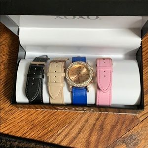 XOXO Watch with 3 bands